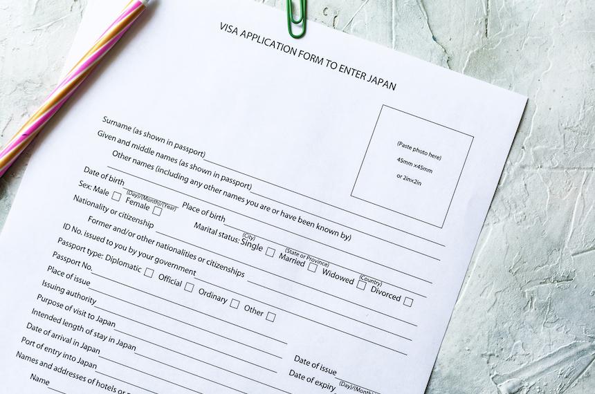 ビザ申請の書類