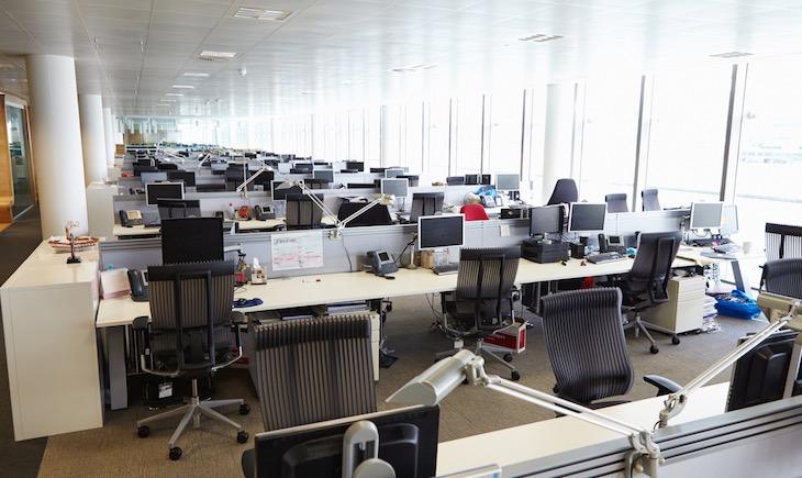 アウトソーシング業務のオフィス