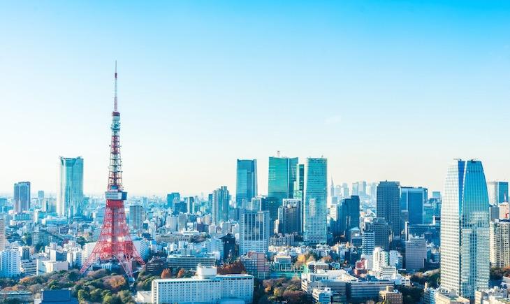 東京タワーの空撮写真